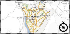 map burundi